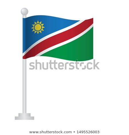 Namibia Small Flag on a Map Background. Stock photo © tashatuvango