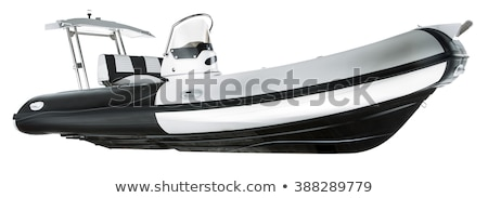borracha · lancha · isolado · branco · transporte · motor - foto stock © andromeda