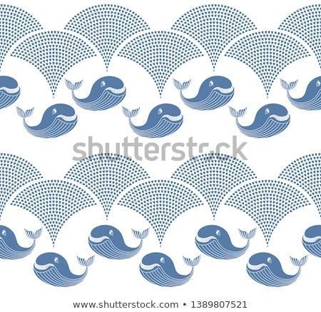 Walvis water gordijn staart duik Stockfoto © bobkeenan