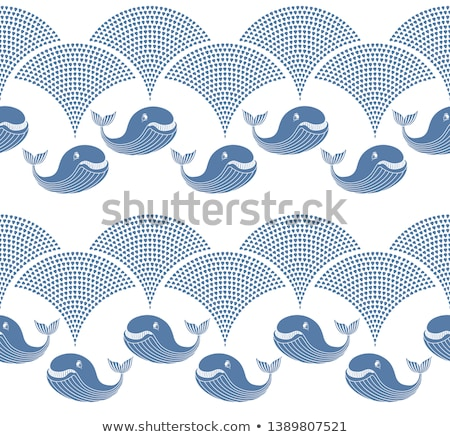 Baleia água cortina ver cauda mergulho Foto stock © bobkeenan