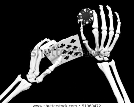 Dode hand poker skelet cartoon illustratie Stockfoto © digitaljoni