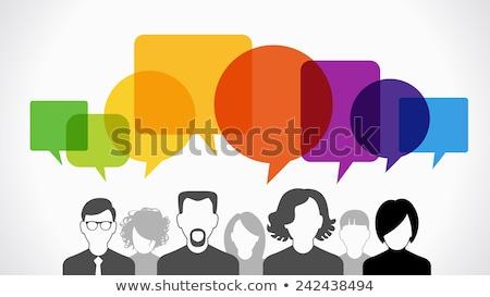 férfi · üres · szövegbuborék · 3D · renderelt · illusztráció - stock fotó © hasloo
