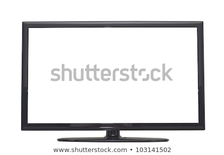 Television. Clipping path stock photo © karammiri
