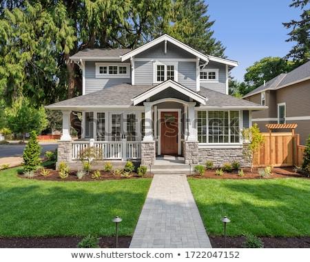 Ház otthon 3D generált kép épület Stock fotó © flipfine