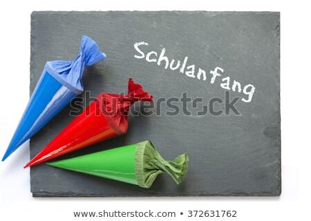 Slate board Schulanfang Stock photo © Studio_3321