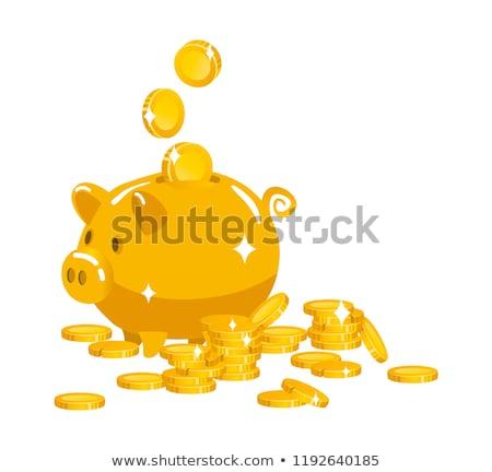 Piggy bank dentro seguro 3D gerado quadro Foto stock © flipfine
