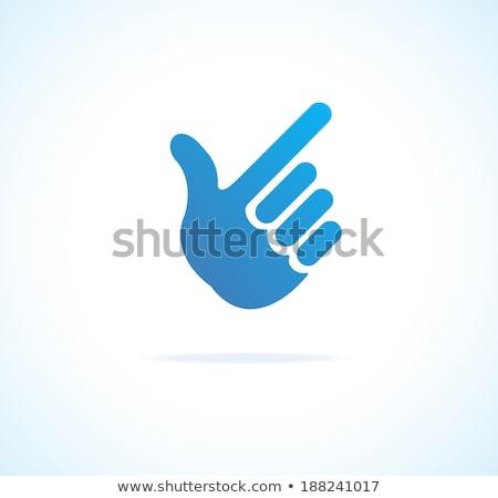 businessman finger pointing up stock photo © szefei