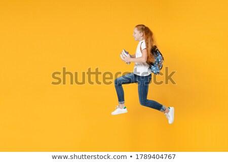 Vörös hajú nő nő könyv hölgy lány divat Stock fotó © konradbak