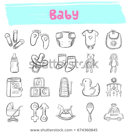 Rubber stamp pacifier and family happiness Stock photo © Ustofre9
