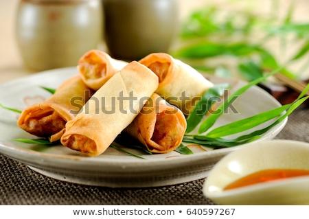 жареный · весны · ресторан · китайский · блюдо - Сток-фото © m-studio