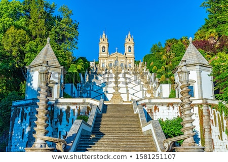 Jesus kathedraal Portugal kruis kerk stoel Stockfoto © rafalstachura