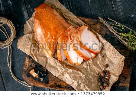 füstölt · tyúk · fa · deszka · kicsi · retek · zeller - stock fotó © fotorobs