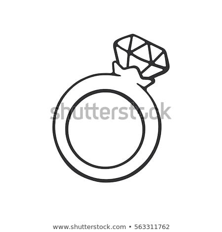 Rajz gyémántgyűrű kéz terv gyémánt őrült Stock fotó © lineartestpilot
