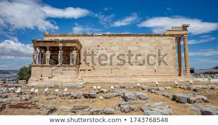 Veranda Athén Fellegvár Görögország égbolt kő Stock fotó © AndreyKr