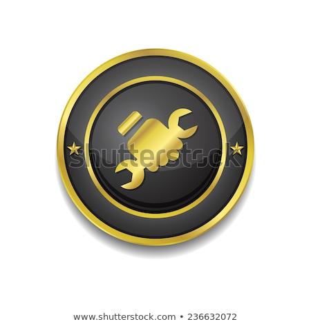Labour Gold Vector Icon Button Stock photo © rizwanali3d