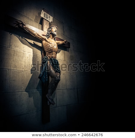 Oscuro crucifijo oscuridad pecado alrededor cruz Foto stock © rghenry