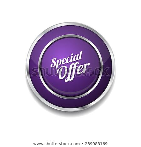 special offer purple vector icon button stock photo © rizwanali3d