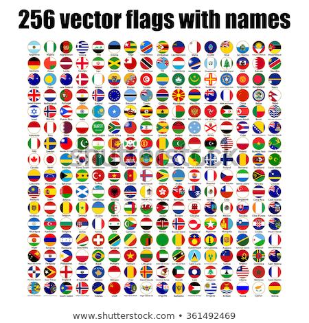 Harita bayrak düğme Letonya vektör görüntü Stok fotoğraf © Istanbul2009