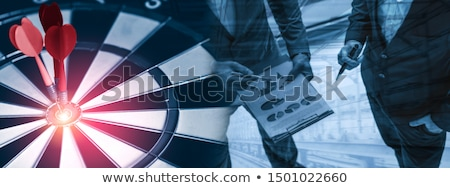 beheer · pijlen · target · drie · Rood · opknoping - stockfoto © tashatuvango