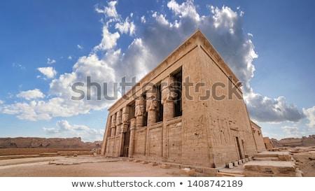 Ancient Egyptian Hathor sculptures in temple of Dendera Stock photo © Mikko