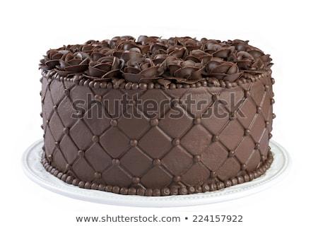 urodziny · ciasto · strony · dziewcząt · dziewczyna - zdjęcia stock © jonnysek