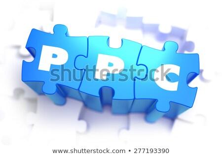Ppc szöveg kék fehér 3d render pénz Stock fotó © tashatuvango