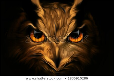 eagle owl   3d render stock photo © elenarts