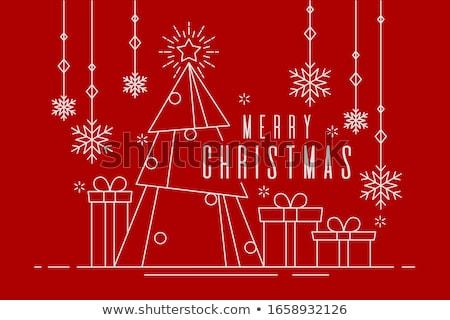 Christmas snowflakes in red Stock photo © marinini