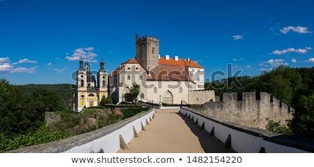 замок · Чешская · республика · Церкви · синий · рок · архитектура - Сток-фото © sarkao
