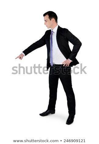 business man presenting something small stock photo © fuzzbones0