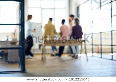 Kobiet projektant pracy warsztaty szczęśliwy moda Zdjęcia stock © deandrobot