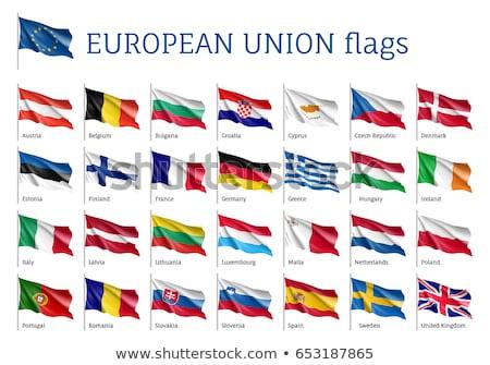 Royaume-Uni Croatie drapeaux puzzle isolé blanche Photo stock © Istanbul2009
