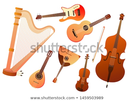 Ingesteld string vector elektrische cello bas Stockfoto © Fosin