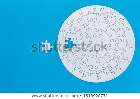 Completed blank jigsaw puzzle Stock photo © stevanovicigor