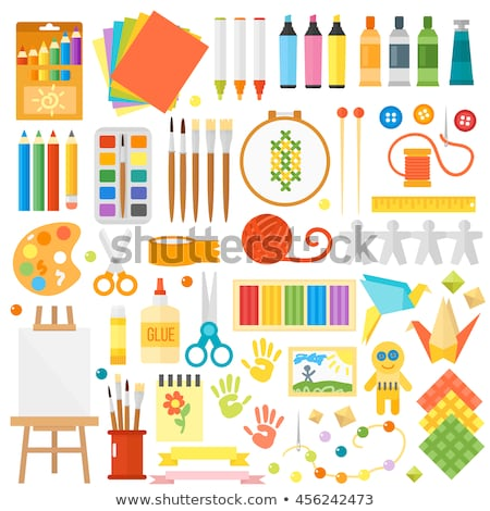 vector colorful pinwheel flat icons set stock photo © freesoulproduction