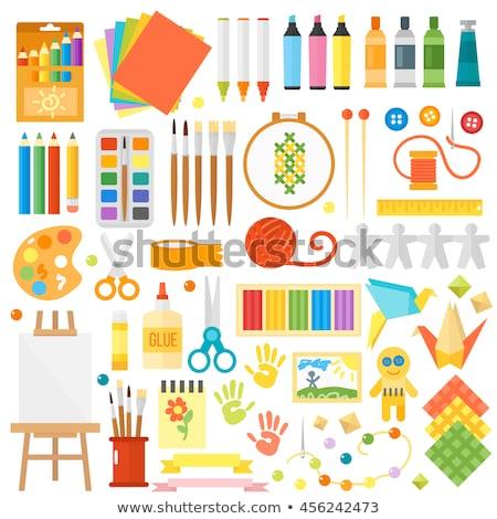Photo stock: Vecteur · coloré · papier · heureux · été