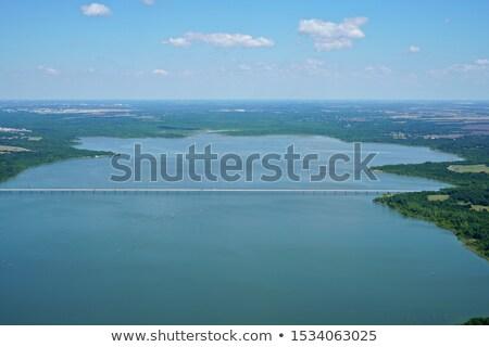 aerial panorama view of lake natural area Stock photo © PixelsAway