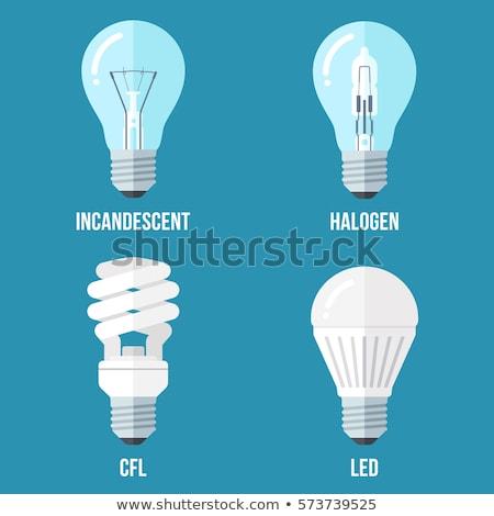 Halogén villanykörte közelkép fehér fény technológia Stock fotó © Koufax73