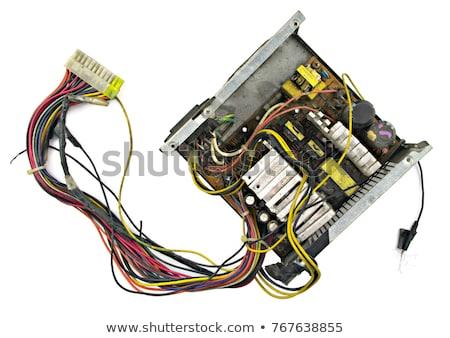 Velho computador cabos dispositivos tecnologia Foto stock © Kayco