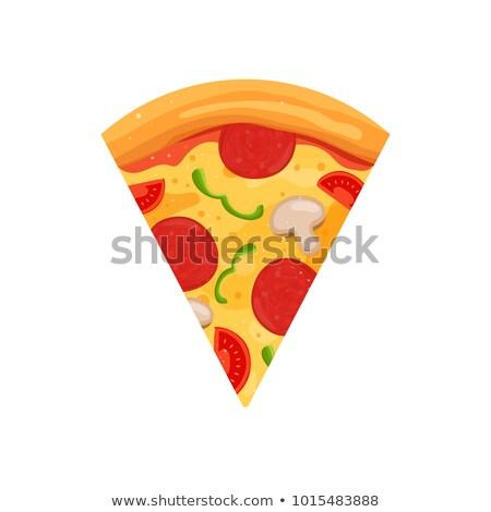 włoski · pizza · pomidorów · kiełbasa · grzyby · internetowych - zdjęcia stock © trikona