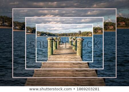 Stockfoto: Oceaan · dok · houten · zomervakantie · resort · strand