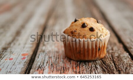 Pumpkin Chocolate Chip Muffins in Macro with Selective Focus Stock photo © rojoimages