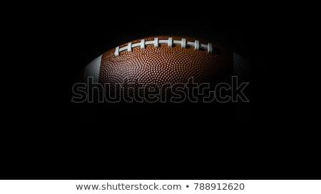 Footballs on black background  Stock photo © shawlinmohd