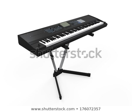 Synthesizer isolated on white Stock photo © ozaiachin