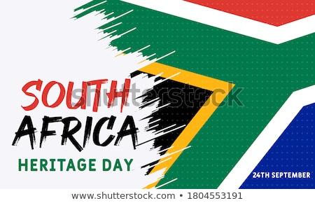 Karte · Südafrika · Flagge · isoliert · Hintergrund · Reise - stock foto © tony4urban
