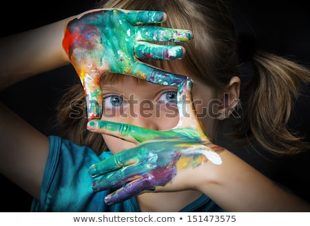 The girl with painted hand Stock photo © master1305