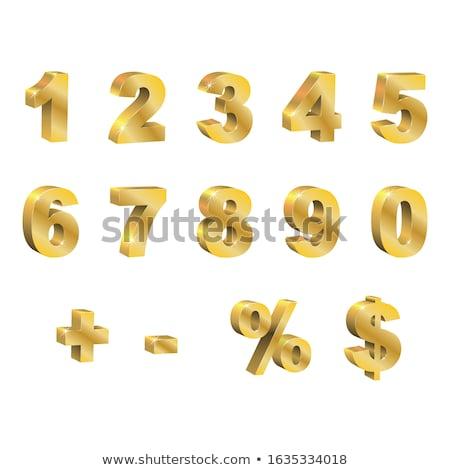 Eksi imzalamak altın vektör ikon dizayn Stok fotoğraf © rizwanali3d
