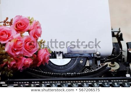 Starych maszyny do pisania szczegół papieru kopia przestrzeń maszyny Zdjęcia stock © stevanovicigor