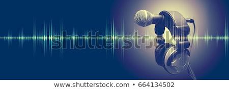Headphones and sound waves Stock photo © Nobilior