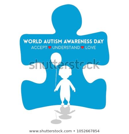 Autizmus nyomtatott diagnózis orvosi kék sztetoszkóp Stock fotó © tashatuvango